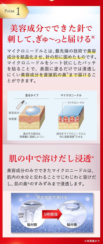 桜白ブライトニングマイクロニードル,特徴,効果