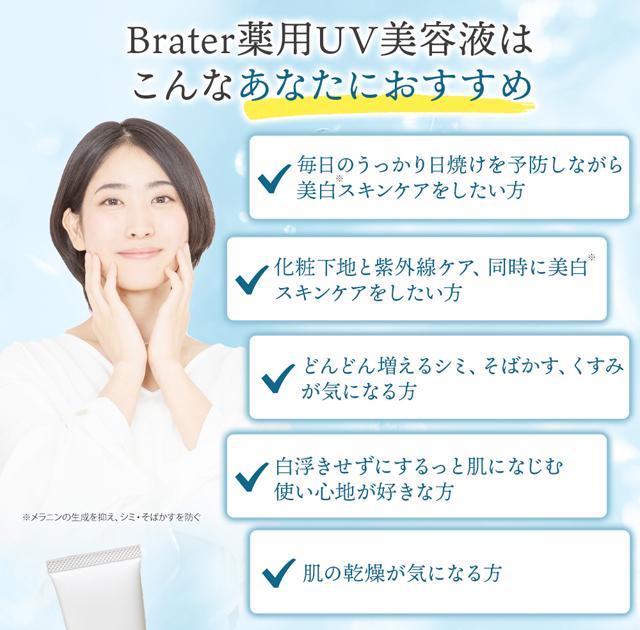 Brater(ブレイター)薬用UV美容液,特徴,効果